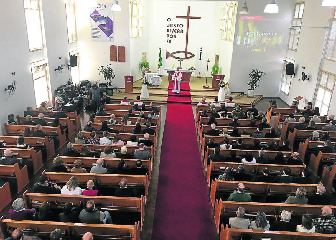 Culto festivo ocorreu no domingo, 26.
