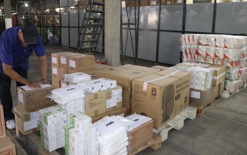 Ministério da Saúde enviou para o Estado 80 mil kits de proteção individual - Foto: Neusa Jerusalém/Ascom SES.