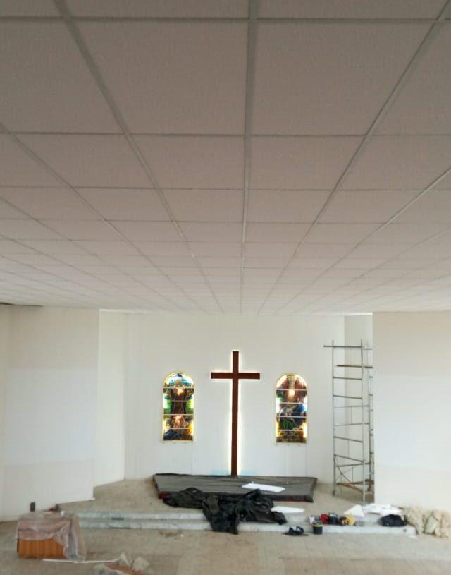 Após reforma do  telhado, troca do piso se fez necessário. Foto: Divulgação.