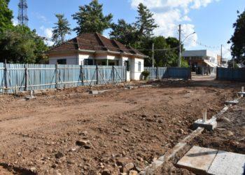 Obras da Rua Coberta já iniciaram. Previsão de entrega é para maio deste ano Foto: Keila Massaia.
