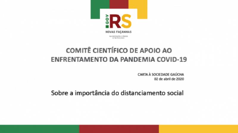 Grupo reforça importância do distanciamento social e lista orientações para reduzir o contágio.