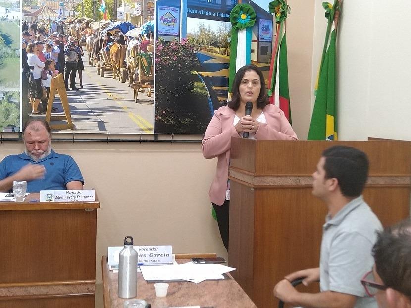 Secretária de Saúde de Araricá, Cleide Santiago Marques - Foto: Deivis Luz