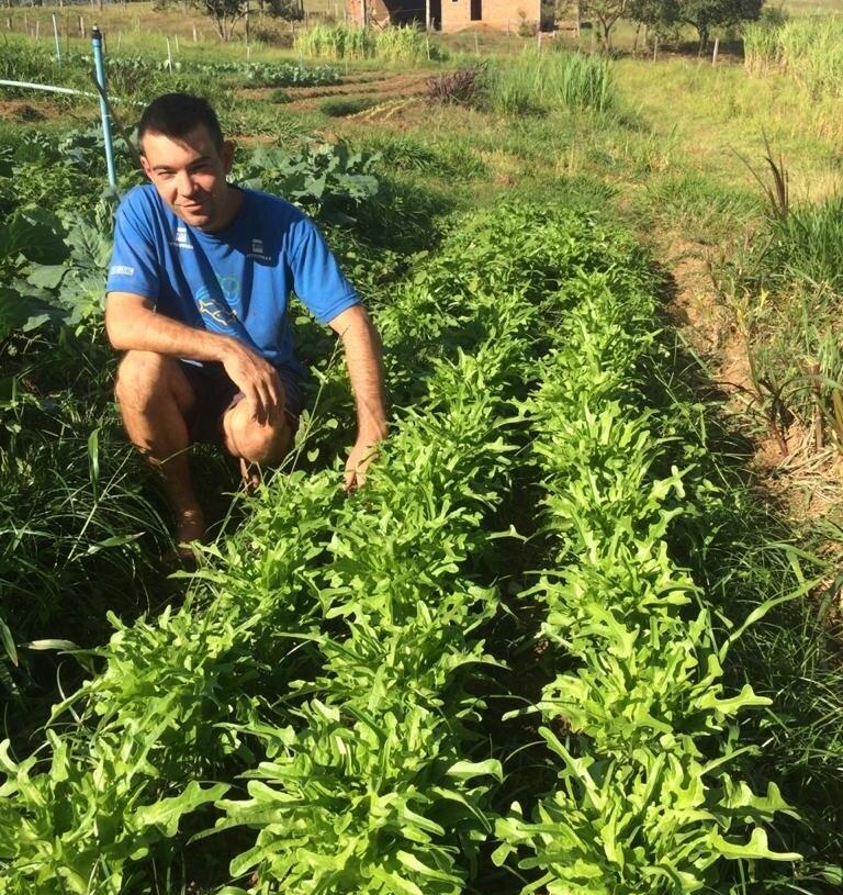 Agricultor Celson Weber Mello, localidade Vila Mônaco, Campo Bom. Foto: Arquivo Pessoal