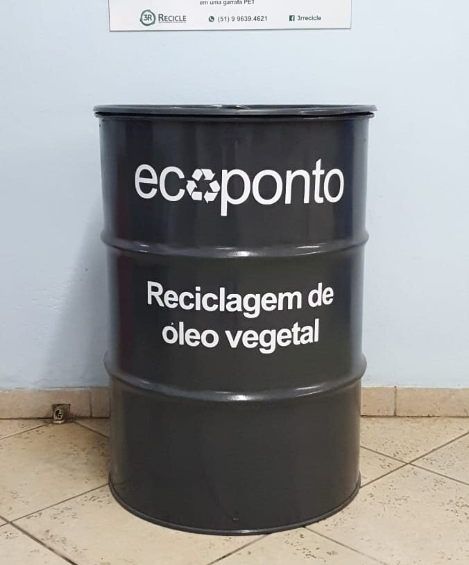 Ecoponto foi instalado na Prefeitura de Nova Hartz e está pronto para receber o descarte Foto: Divulgação