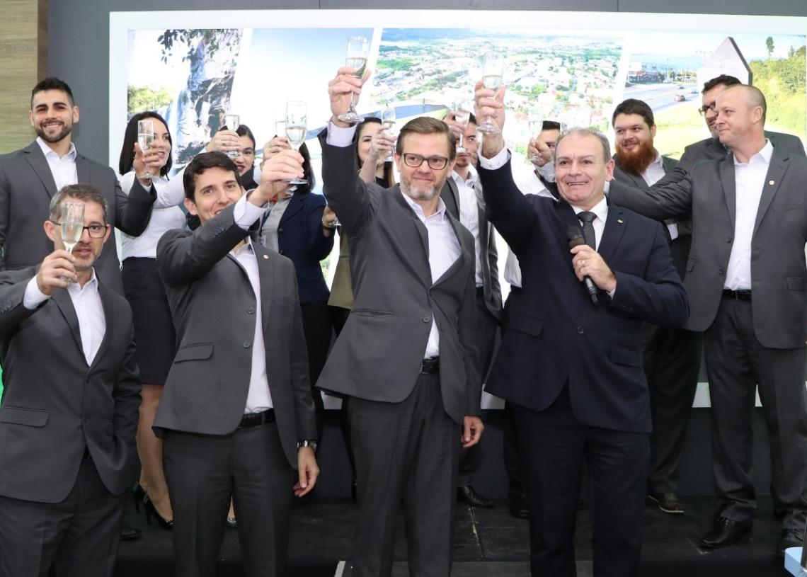 Evento de Inauguração do Sicredi em maio de 2019 Foto: Arquivo do Jornal Repercussão