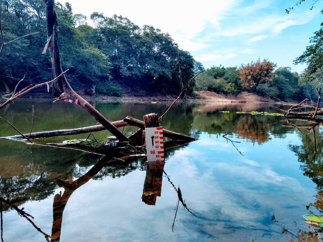 Rio dos Sinos chegou ao patamar mais baixo desde 2011. Foto: Nilson Wolff