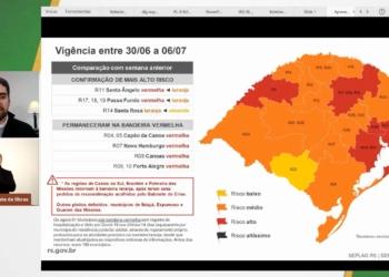 Governador Leite apresenta atualizações do mapa do distanciamento controlado Foto: Reprodução/YouTube