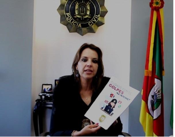 hefe de Polícia, delegada Nadine Anflor afirma que informação é uma arma poderosa que pode prevenir inúmeros crimes - Foto: Reprodução