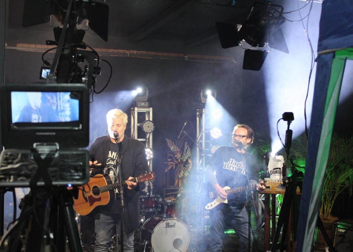 Estrutura para a Live do Repercussão foi montada no H Ville Fotos: Deivis Luz