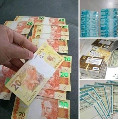 Notas que são vendidas de forma ilegal e criminosa em bricks na internet Foto: Reprodução
