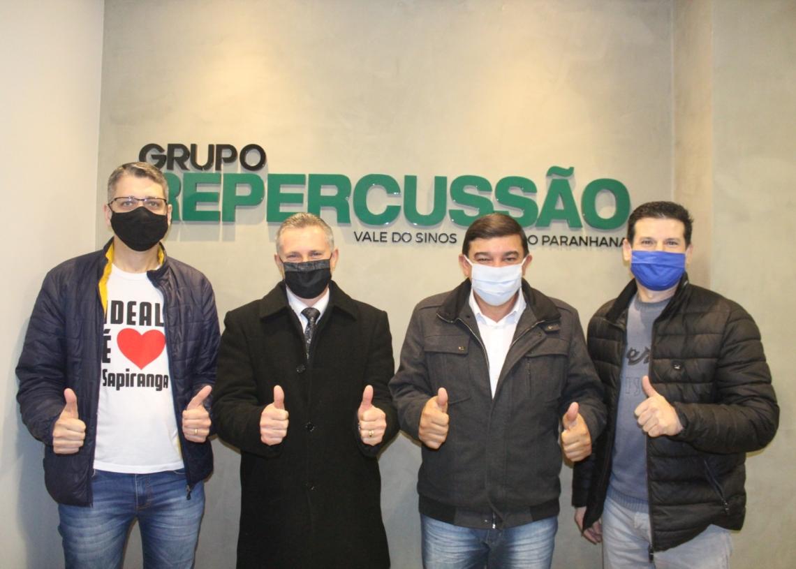 Pablo Ideal, Pastor Jacó, Beto e Gilnei Roggia | Foto: JR
