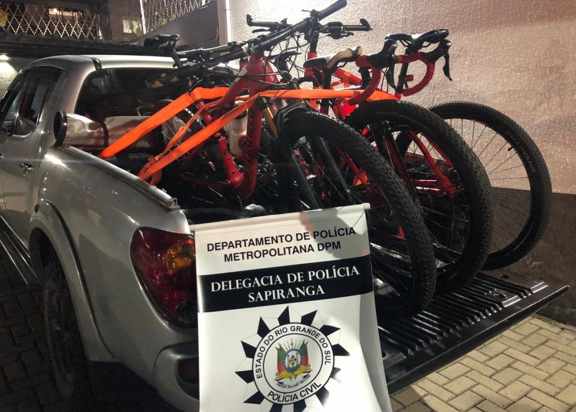 Bicicletas foram apreendidas pela Polícia Civil de Sapiranga Foto: Polícia Civil