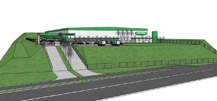 Novo Centro de Distribuição da Quero Quero ficará às margens da RS-239, em Sapiranga Foto: Reprodução