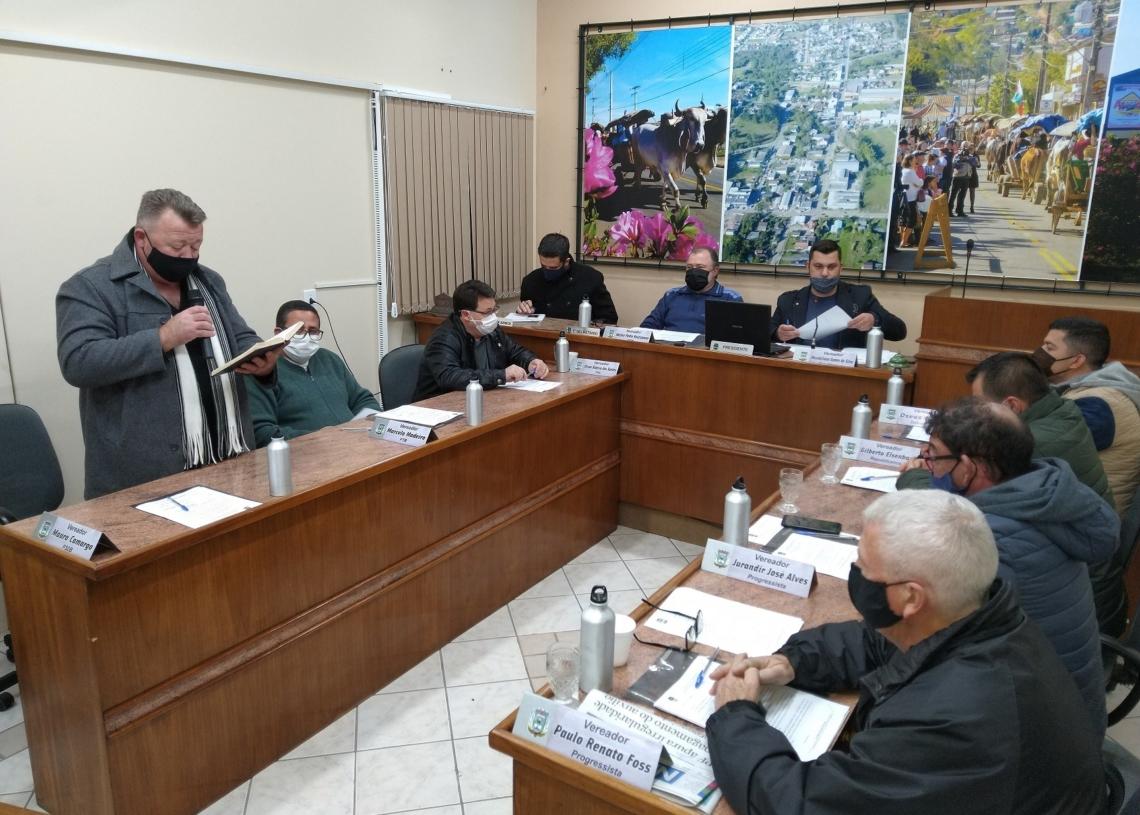 Vereadores aprovaram crédito suplementar em sessão Foto: Deivis Luz