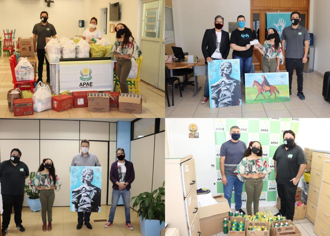Entrega de donativos realizada na APAE Sapiranga Fotos: Júnior Santos