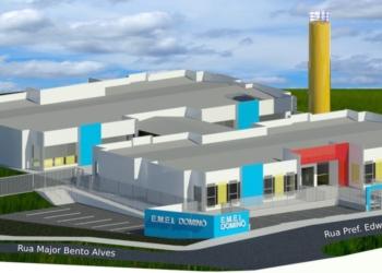 Ao lado, projeto de como deve ficar a E.M.E.I Foto: Prefeitura de Sapiranga