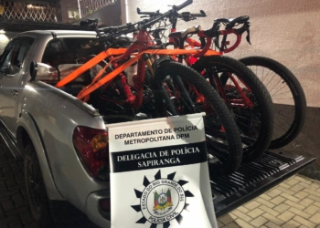 Foram recuperadas 5 bicicletas mountain bike Foto: Polícia Civil