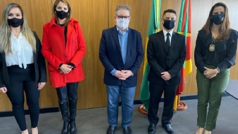O vice-governador e secretário da Segurança Pública, Ranolfo Vieira Júnior, foi o paraninfo das turmas. Foto: Júlia Soares/Ascom GVG