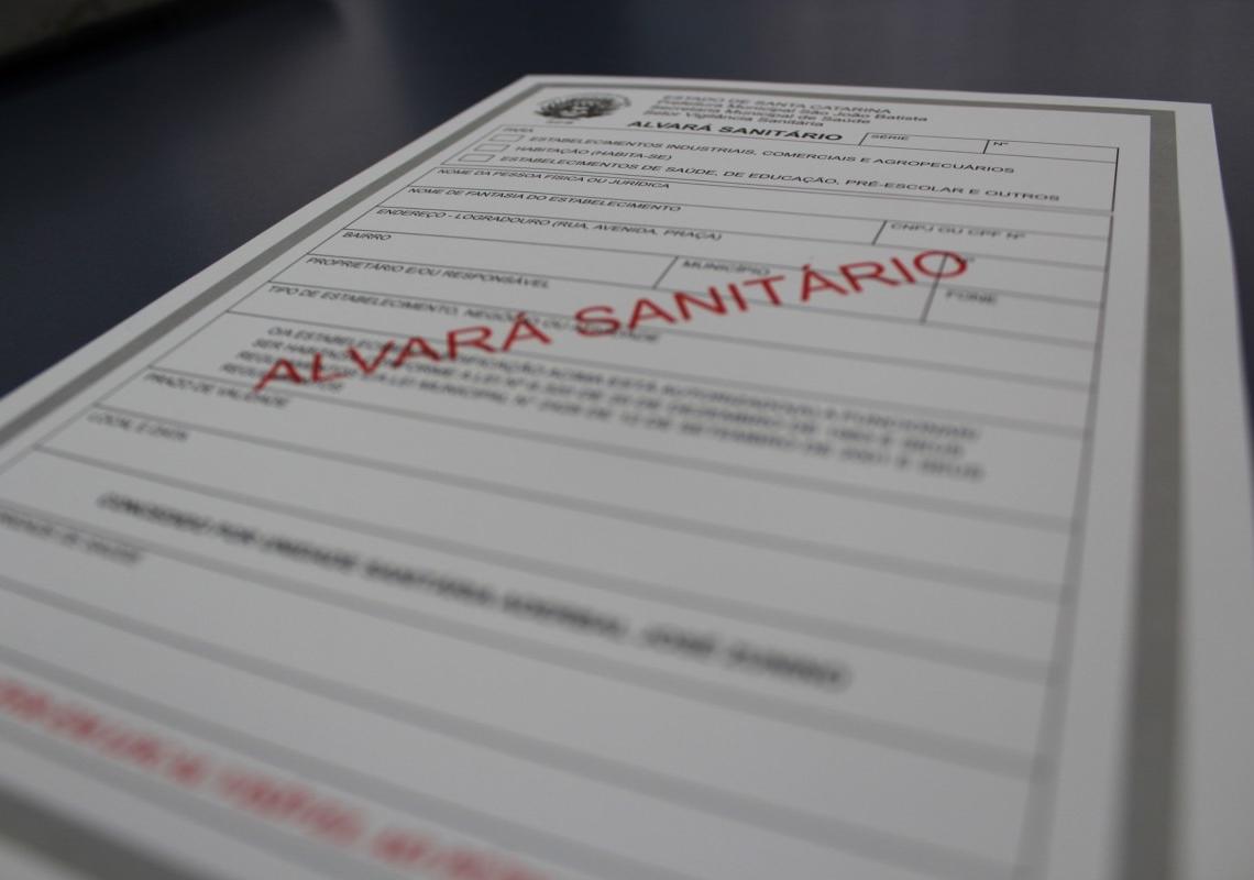 Alvará sanitário dá permissão para o funcionamento dos estabelecimentos sujeitos ao controle sanitário Foto: PMSJB/ Divulgação