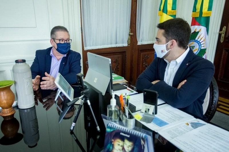 Governador e secretário Ranolfo   Foto: Gustavo Mansur