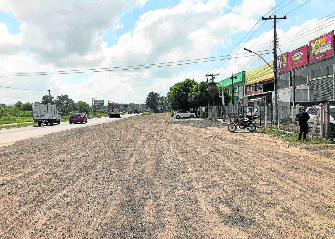 Ruas laterais no trecho de Sapiranga, pedido antigo da Prefeitura, ficará para um futuro distante e incerto Foto: Fernando Bertotto