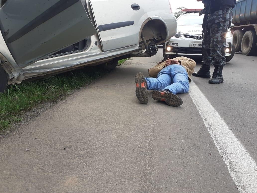 Rápida mobilização da BM resultou na prisão de assaltante em flagrante Fotos: Melissa Costa