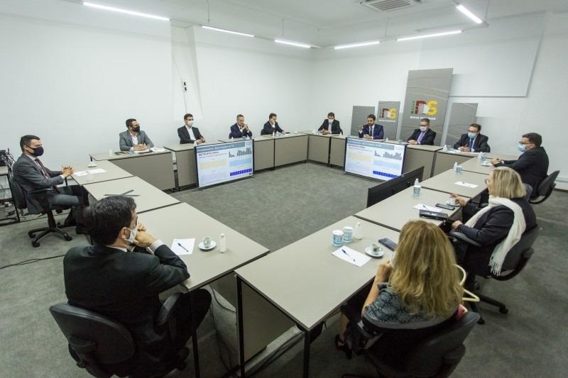 Reunião do conselho | Foto: Gustavo Mansur/ Palácio Piratini