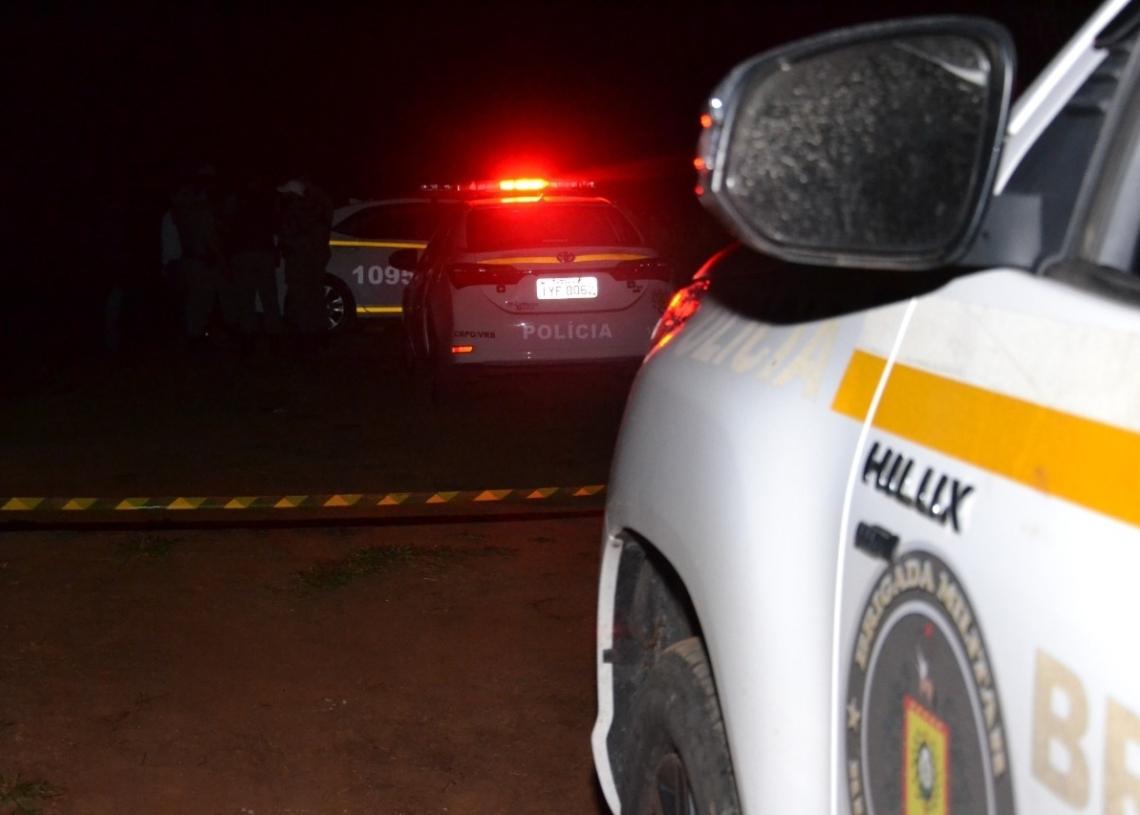 Corpo do tenente foi localizado na noite desta segunda-feira (Foto MELISSA COSTA)