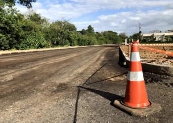 Novo trecho da Mauá aguarda pelo asfalto para ser finalizada Fotos: Henrique Ternus