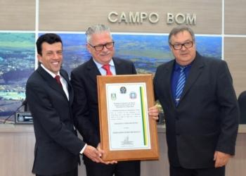 Fernando Bilhalva recebeu o título de Cidadão Campo-Bonense em 2019   Foto: Katiele Bortolini/Arquivo Câmara de Vereadores