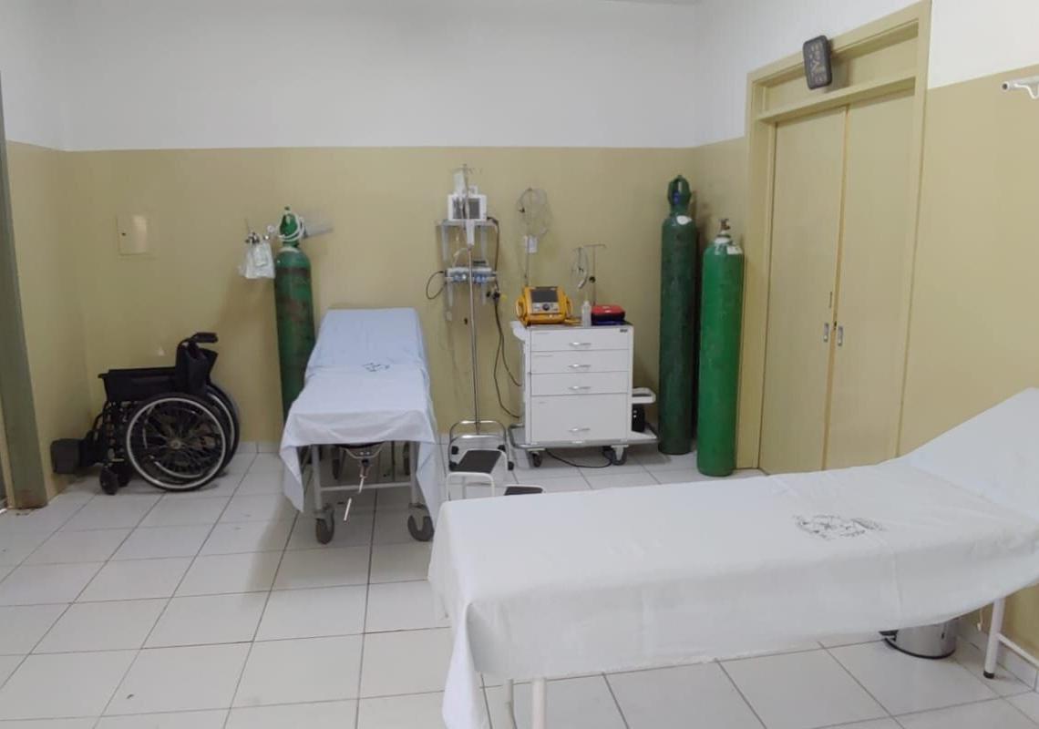 Emergência do Posto de Saúde Central, agora, possui dois leitos para atendimentos Fotos: Reprodução/ Prefeitura de Nova Hartz