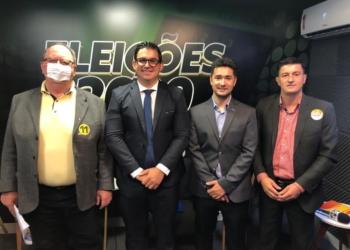 Flavio Jost, Robson Massaia, jornalista Deivis Luz e Jamir Pelicioni | Foto: Fernando Bertotto