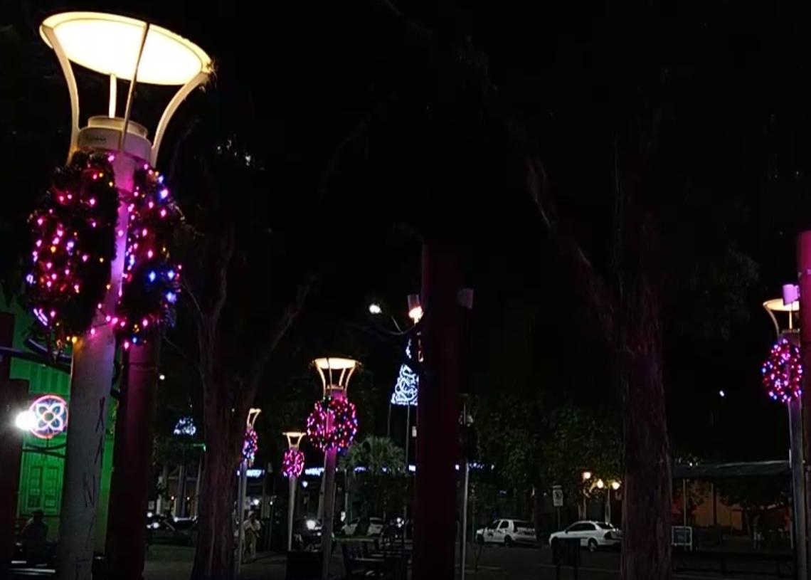 Decoração já está  iluminando as ruas de  Campo Bom  Foto: Deivis Luz