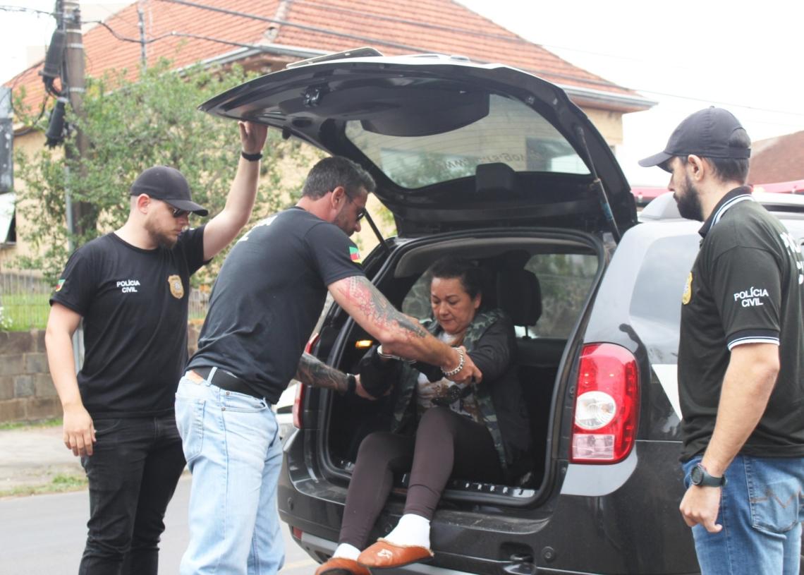 Viúva foi presa preventivamente pela Polícia Civil na segunda-feira (Foto Melissa Costa)