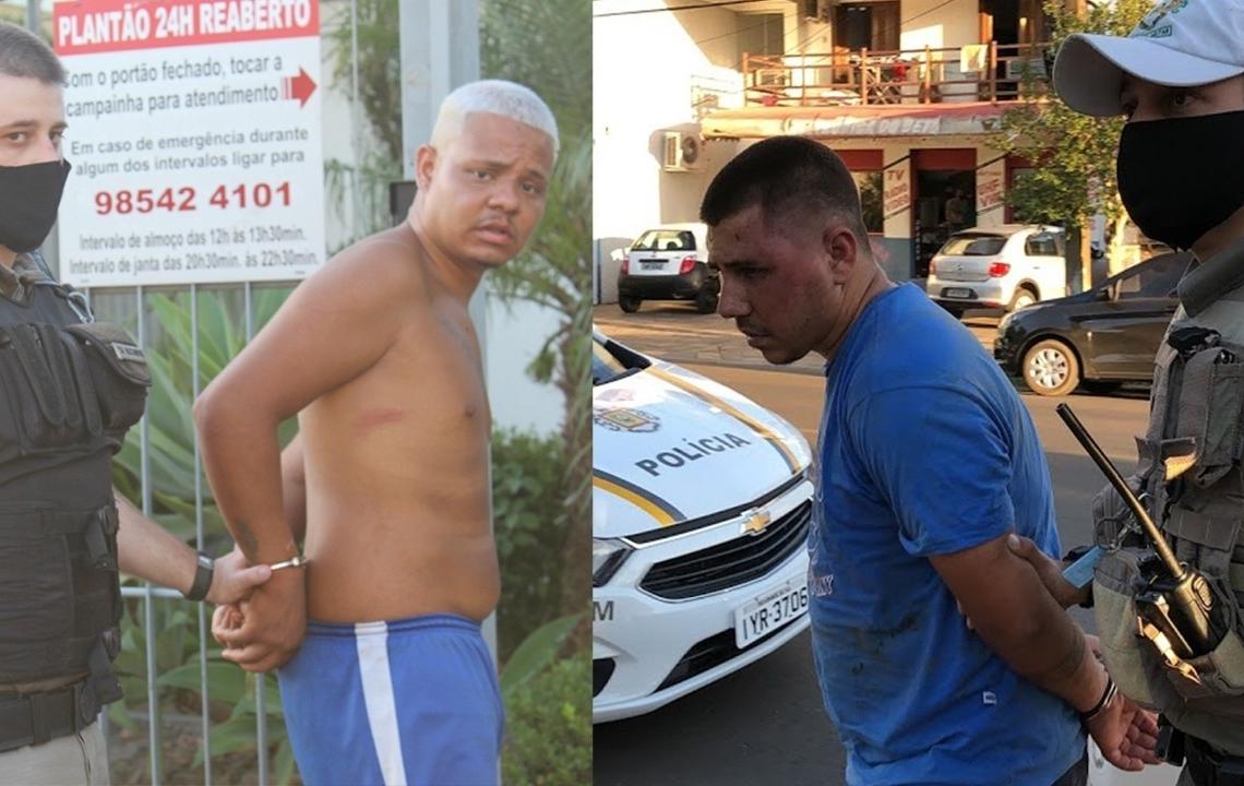 Wellington e Anatan foram presos durante cerco montado pela Brigada Militar (Fotos: Melissa Costa)