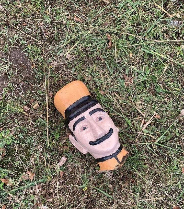 Pedaço da cabeça localizada   Foto: Prefeitura de Sapiranga