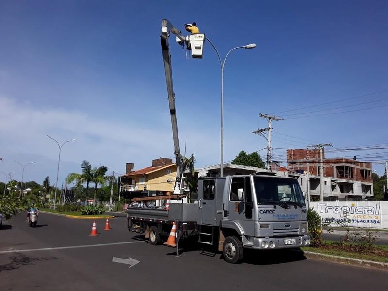 Quase 600 lâmpadas de sódio foram trocadas por modelos mais modernos, de LED, em Sapiranga Foto: PMS