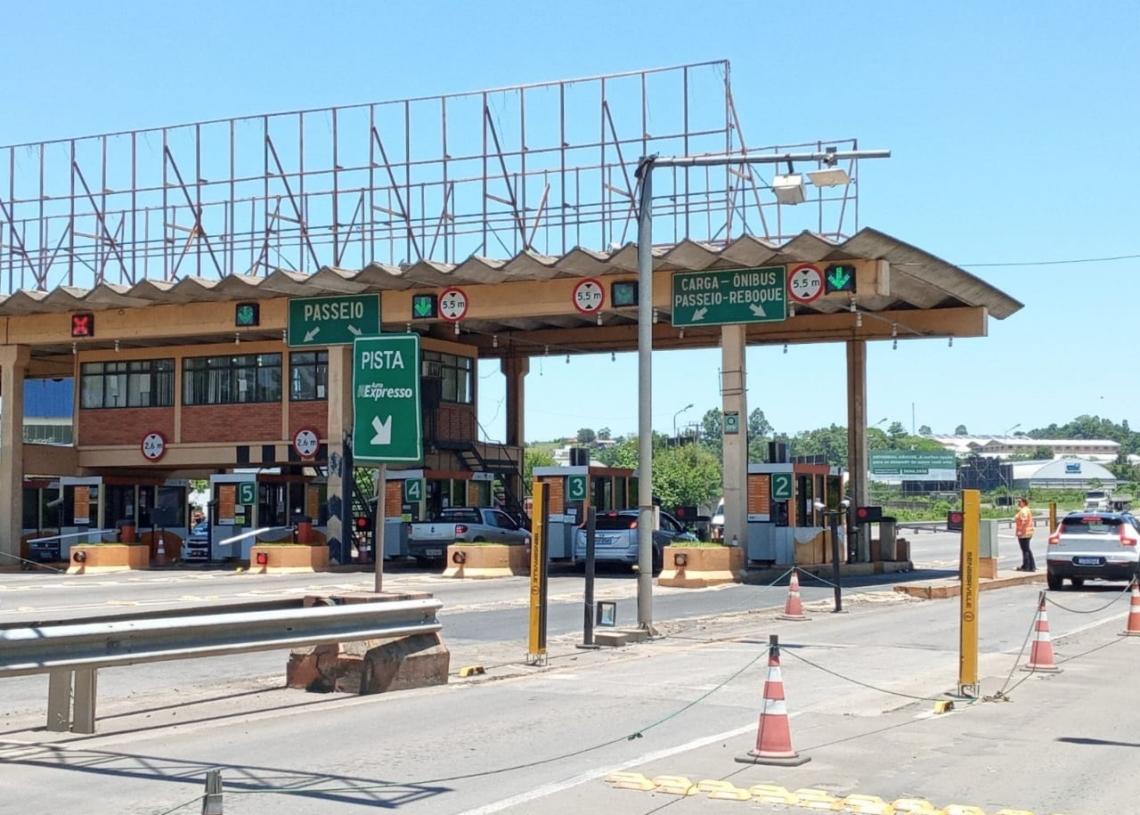 Praça de pedágio fica na ERS-239 e é gerida pela APL Administradora Foto: Melissa Costa