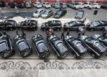 Cerimônia de entrega dos novos veículos ocorreu em frente ao Palácio Piratini, na capital - Foto: Itamar Aguiar/Palácio Piratini