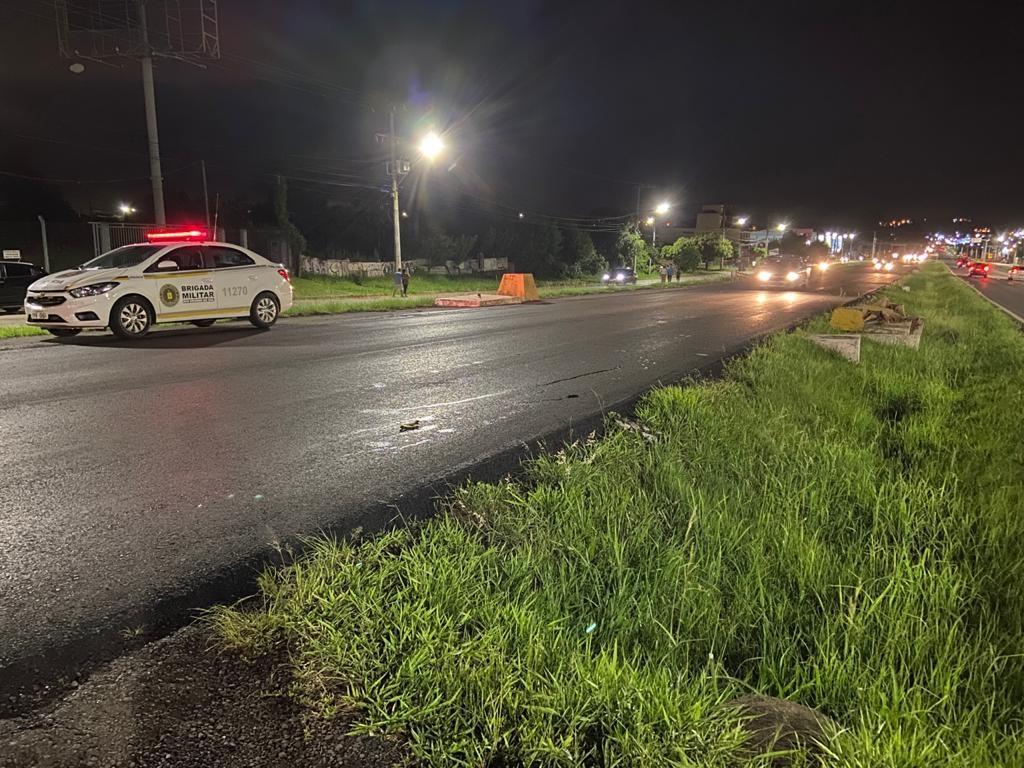 Na sexta-feira à noite, foi registrada um dos acidentes de trânsito no local (Foto: Felipe Laux)