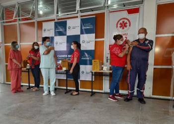 Maurício de Oliveira teve a oportunidade de ser o primeiro campo-bonense a ser vacinado contra a Covid-19 - Foto: Henrique Ternus