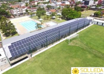 Vestiários do Clube 15 de Novembro ganharam placas fotovoltaicas para geração de energia através do sol