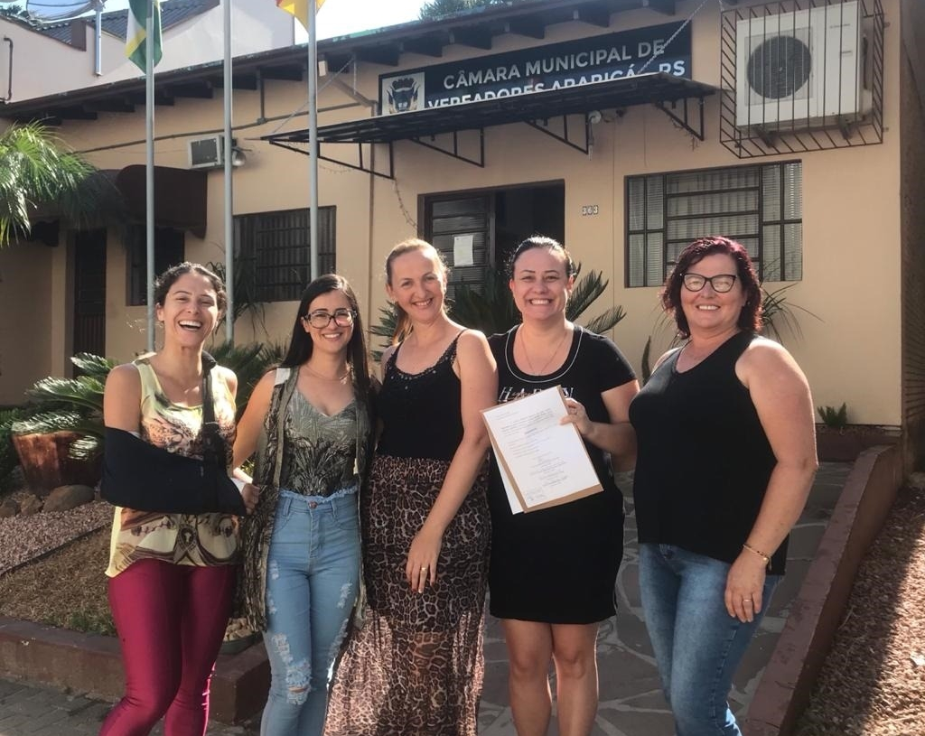 Pela primeira vez, cinco mulheres estão à frente do Legislativo de Araricá