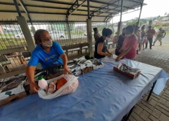 20 famílias foram beneficiadas na sede da Assistência Social - Foto: Henrique Ternus