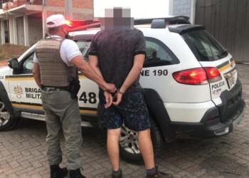 Acusado foi preso durante abordagem da Brigada Millitar no município  Foto: Brigada Militar