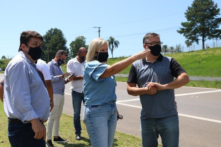 Vistoria ocorreu nesta terça-feira na RS-239 (Foto: Departamento de Comunicação da PMSAP)