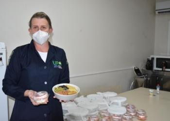 Alimentos de alta qualidade já estão sendo repassados aos profissionais   Foto: Prefeitura de Sapiranga