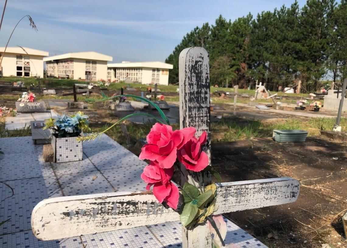 Cemitério Municipal do bairro São Jacó, atualmente, conta com cerca de 1.500 sepulturas  (Foto: Melissa Costa)