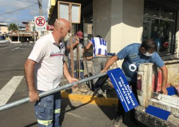 Servidores das Obras intensificam trabalhos Foto: Cássios Schaab/JR
