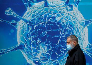 Ilustração do coronavírus em Oldham, no Rei 03/08/2020 REUTERS/Phil Noble